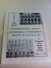 1957 Westmoreland County Basketball Tournament Hempfield High School Program old