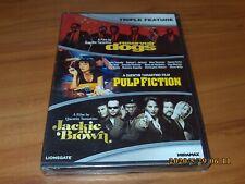 Reservoir Dogs/Pulp Fiction/Jackie Brown (Dvd, 2012, 3-Disc Set) New Read