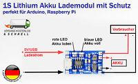 lipo lion Akku Lademodul mit Schutz TP4056  Arduino, Solar charger Raspberry Pi