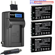 Kastar Battery LCD AC Charger for Kodak KLIC-5001 Kodak EasyShare DX7440 Camera