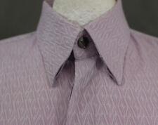 "VERSACE Collection Purple CITY Diamond Pattern SHIRT - Size EU 42 - 16.5"" Collar"