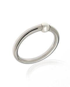 Mimi Milano Nagai Sirenette 18k White Gold And Pearl Ring Sz 6.5 A364B1-65 $1260