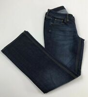 NY&C Boot Cut Jeans Sz 4 Petite Curvy Low Rise Distressed Med Wash New York & Co
