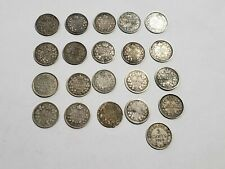 CANADA 5 CENT VICTORIA EDWARD GEORGE MIXED SILVER WORLD COIN LOT of 21 key date