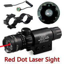 Tactical Red Dot Laser Sight Rifle Gun Scope Rail Mount + Remote Switch Hunting