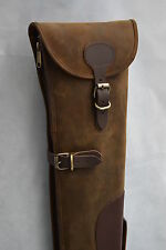 Distressed Leather Shotgun Slip Case 28 - 32 Inch Barrels Hunting & Shooting