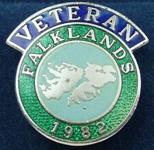 FALKLAND ISLANDS WAR VETERANS CLASSIC HAND MADE IN UK SCROLL LAPEL PIN BADGE