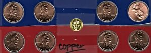 2009 P D Lincoln BiCentennial Copper Cents - 8 Coins - U.S.Mint - Satin finish