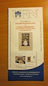 Vatican 2016 Philatelic year book leaflet / brochure