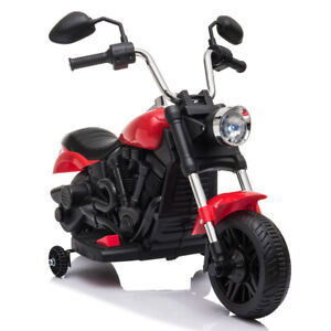 New Kids Electric Ride On Motorcycle With Training Wheels 6V Red