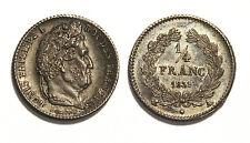 1/4 Franc Louis Philippe I 1839 A - C'est l'exemplaire de la Collection Idéale