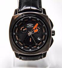 Rotary Evolution Men's EGS00004-TZ1-04 Chronograph Watch Black Stainless Steel