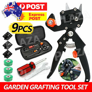 9pcs Garden Grafting Tool Set Fruit Tree Pro Pruning Shears Scissor Cutting Kit