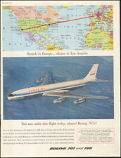 Vintage ad for BOEING 707 and 720's Airplane photo Map retro   092217