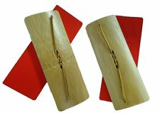 2 Pairs of Japanese Kachi Kachi Obon Odori Castanet Natural Bamboo Made in Japan