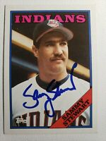 Rare (D-'18) 1988 Topps Sammy Stewart Auto Autograph Card Indians Red Sox Signed
