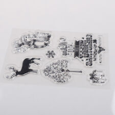 Clear Silicone Stamp DIY Scrapbooking Christmas Gift Snowman Photo Album Decor F