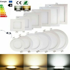 White LED Ceiling Panel Light Recessed Surface Mount Lamp Downlight Round Square