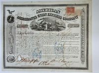 1868 WILLIAM G. FARGO Signed Express Co. Stock Certificate