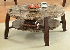 Lilith Faux Marble and Cherry End Table 80958 New