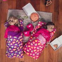 18 Inch Doll Accessories TWO SLEEPING BAGS (Pink & Purple)  Fits American Girl