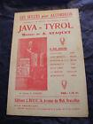 """"""" Partitur Java Tyrol A Staquet Music -blatt """""""