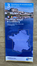 travel MAP FRANCE BELGIUM LUXEMBOURG Route road routekaart ANWB travel info