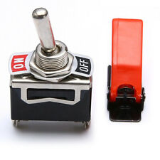 Original Car OFF/ON SPST Toggle Switch Metal Lever Dash Light+Missile Cover New