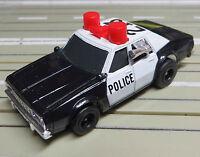 Für H0 Slotcar Racing Modellbahn ---   Police mit Tomy Motor