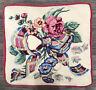 Beautiful Vintage Handmade Needlepoint Pillow / Seat Cushion * Bow  & Flowers *