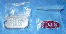 Queen Paul Rogers Return Of The Champions Pin Dog Tags 2006 Concert Souvenir Nip