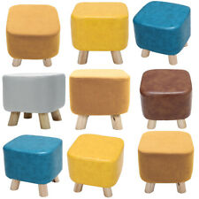 PU Leather/Velvet Footstool Foot Rest Stool Pouffe Ottoman Seating Living Room