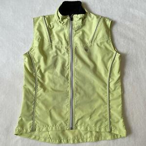 Pearl Izumi Zephrr Barrier Cycling Vest Womens Medium Yellow Mesh Back