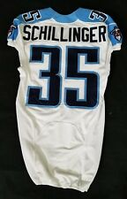 #35 Shann Schillinger Authentic Nike Tennessee Titans Game Issued Jersey