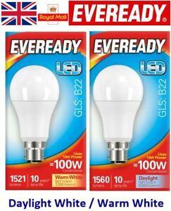 13.2w = 100w LED GLS Bayonet Light Bulb Warm White / Daylight 100 Watt Eveready