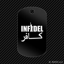Infidel Keychain GI dog tag engraved many colors  #2 statue of liberty