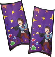 Pack of 6 - Magic Wizard Theme Party Boxes -  Magical Wand Parties Boys Bags
