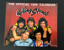 Vtg ROLLING STONES Mick Jagger Keith Richards 1986 Calendar