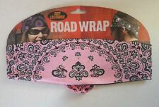 Chop Top Pink Reversed Paisley w// Rhinestones Do Rag Head Wrap Bandanna Capsmith