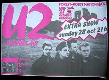 U2 The Unforgettable Fire 1984 BRUSSELS Concert POSTER Edge Bono Larry Adam MINT