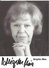 Autogramm Brigitte Mira +2005 Schauspielerin Kabarettistin Chanson Sängerin s/w5