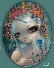 Seashell Princess Jasmine Becket-Griffith CANVAS PRINT mermaid big eye art fairy