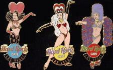 Hard Rock Cafe LAS VEGAS 2001 Showgirls 3 PIN Box Set - HEARTS - Catalog #4528