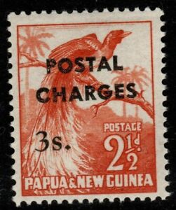 PAPUA NEW GUINEA SGD6 1960 3/= on 2½d POSTAGE DUE MNH