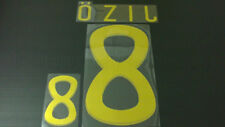 OZIL #8 Germany Away World Cup 2010 Gold Color Name Set