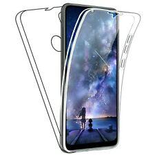 Coque pour Huawei Y6P Étui Transparent Avant Arrière Complète Silicone TPU 360