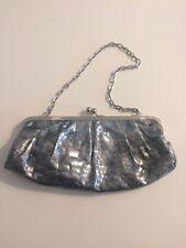Candie's Silver Metallic Snakeskin Clutch
