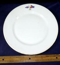 Crossed Flags Burgees Dinner Plate South Shore Yacht Club James Cruikshank Idler