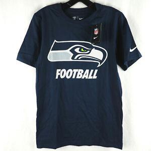 Nike Men's T-Shirt Seattle Seahawks Football Facility Cotton Blue S 666943-419