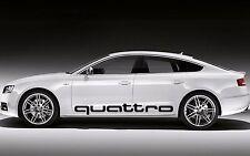 2x Audi Quattro 120x13,2cm Aufkleber Car Window Sticker Vinil Decal 251